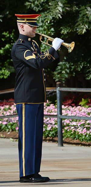 4:15 pm: Taps sounding to close the wreath laying ceremony.