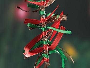Christmas ribbon tree ornament
