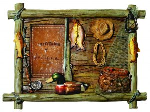 Decorative wooden picture frame Fishing theme