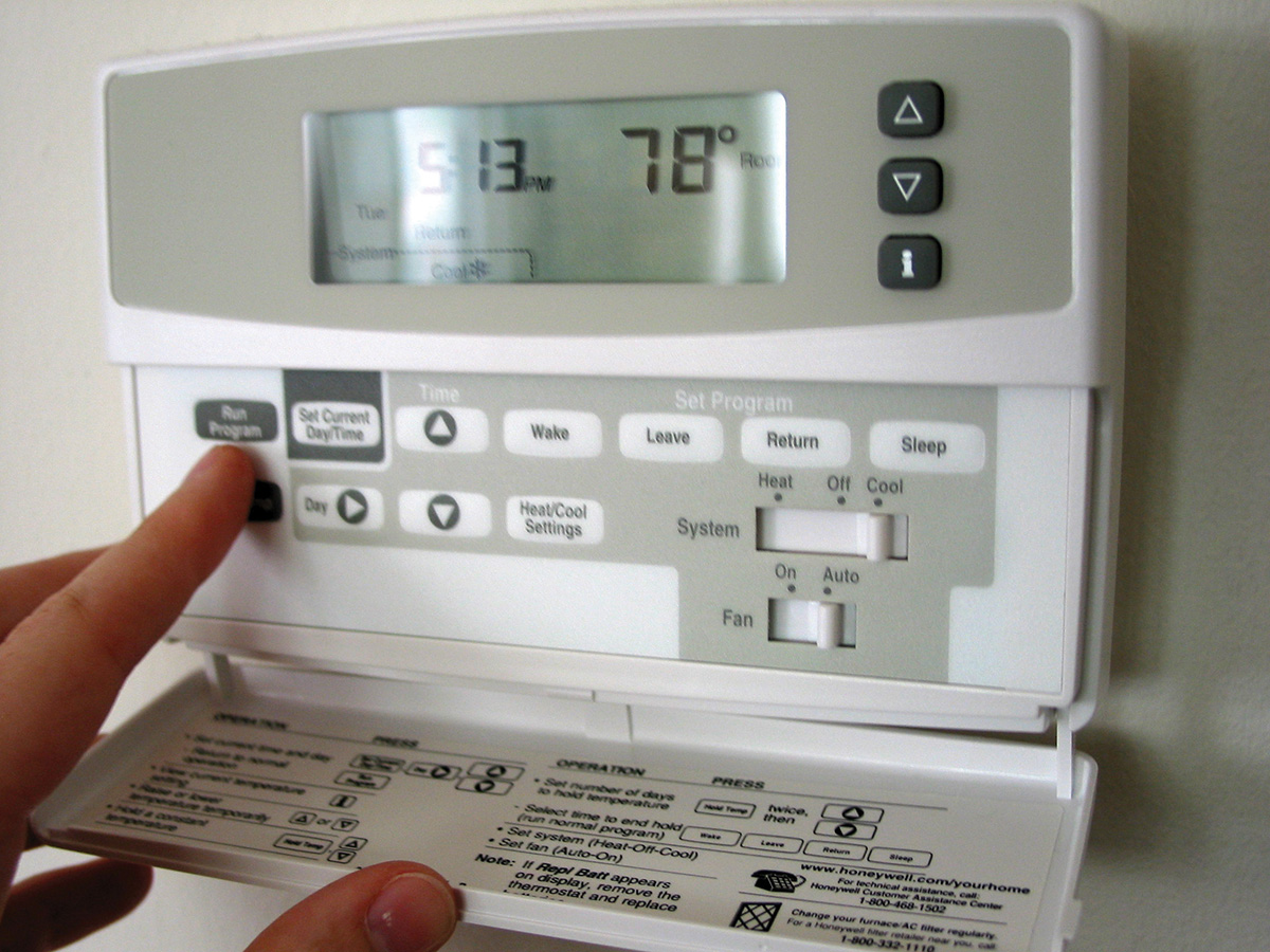 Photo of programmable thermostat