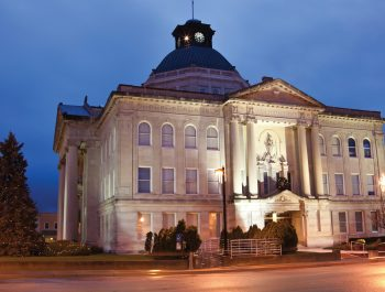 Boone County historic courthouse in Lebanon, Indiana