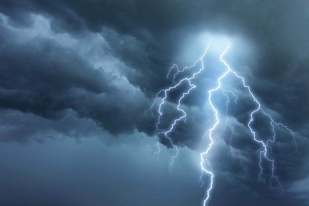 Photo of lightning storm