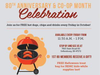 Clark County REMC 80th Anniversary Celebration ad