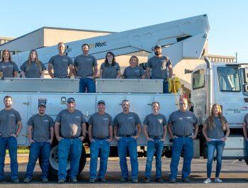 Photo of LaGrange County REMC employees
