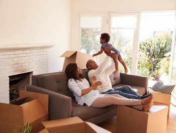 Family moving in to a home