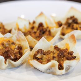 Photo of sausage wantons