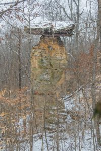 Photo of the Jug Rock in Shoals, Indiana