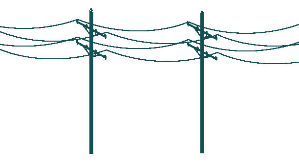 Illustration of galloping power lines