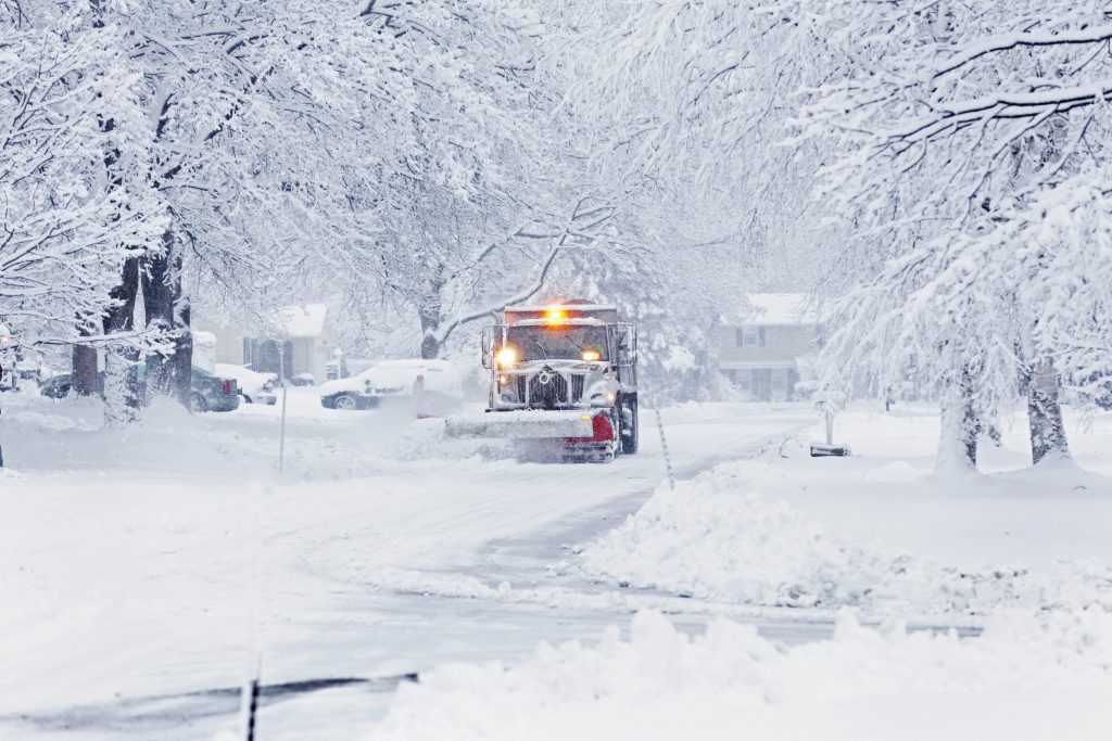 Photo of plow in the the snow