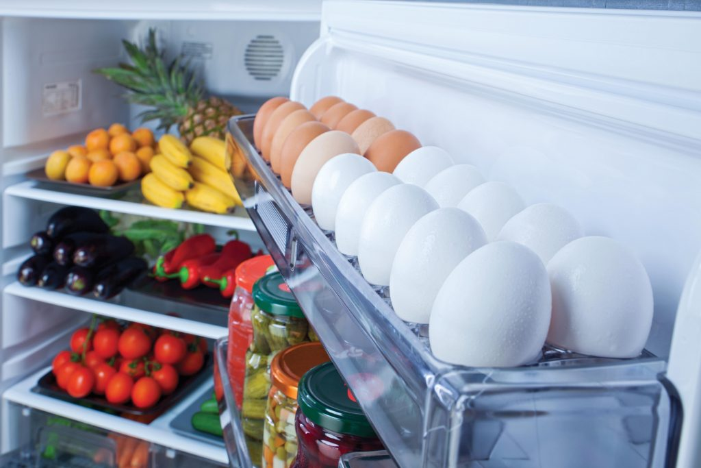 Photo of food in a refridgerator
