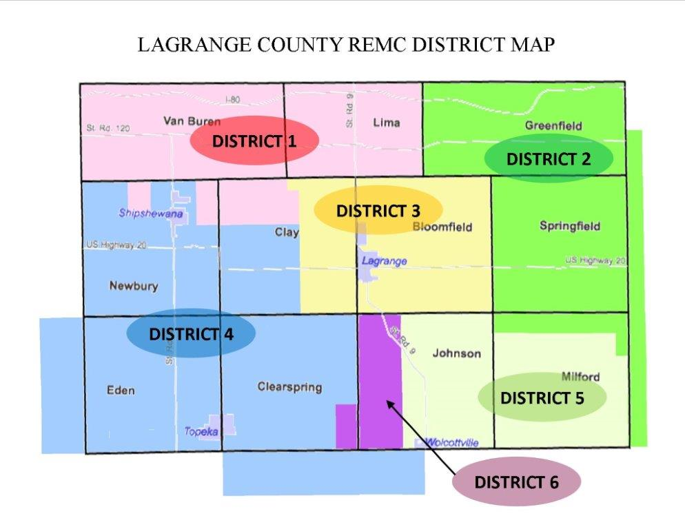 LaGrange REMC district Map