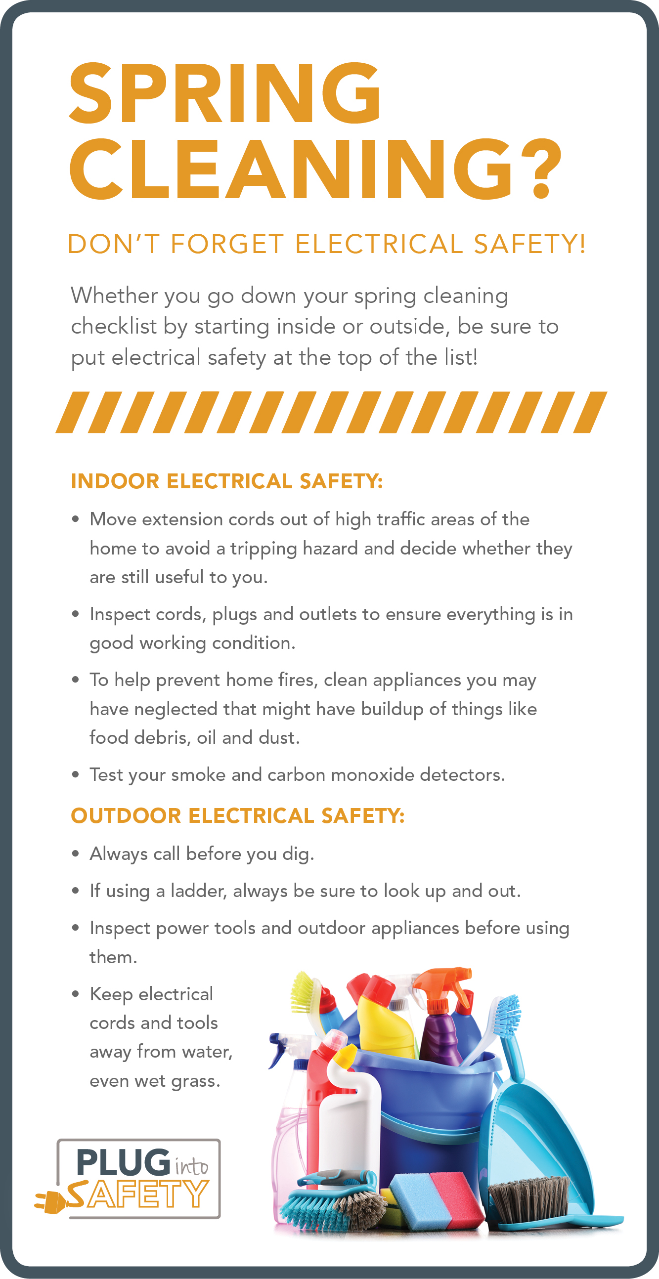 Spring cleaning safety infographic