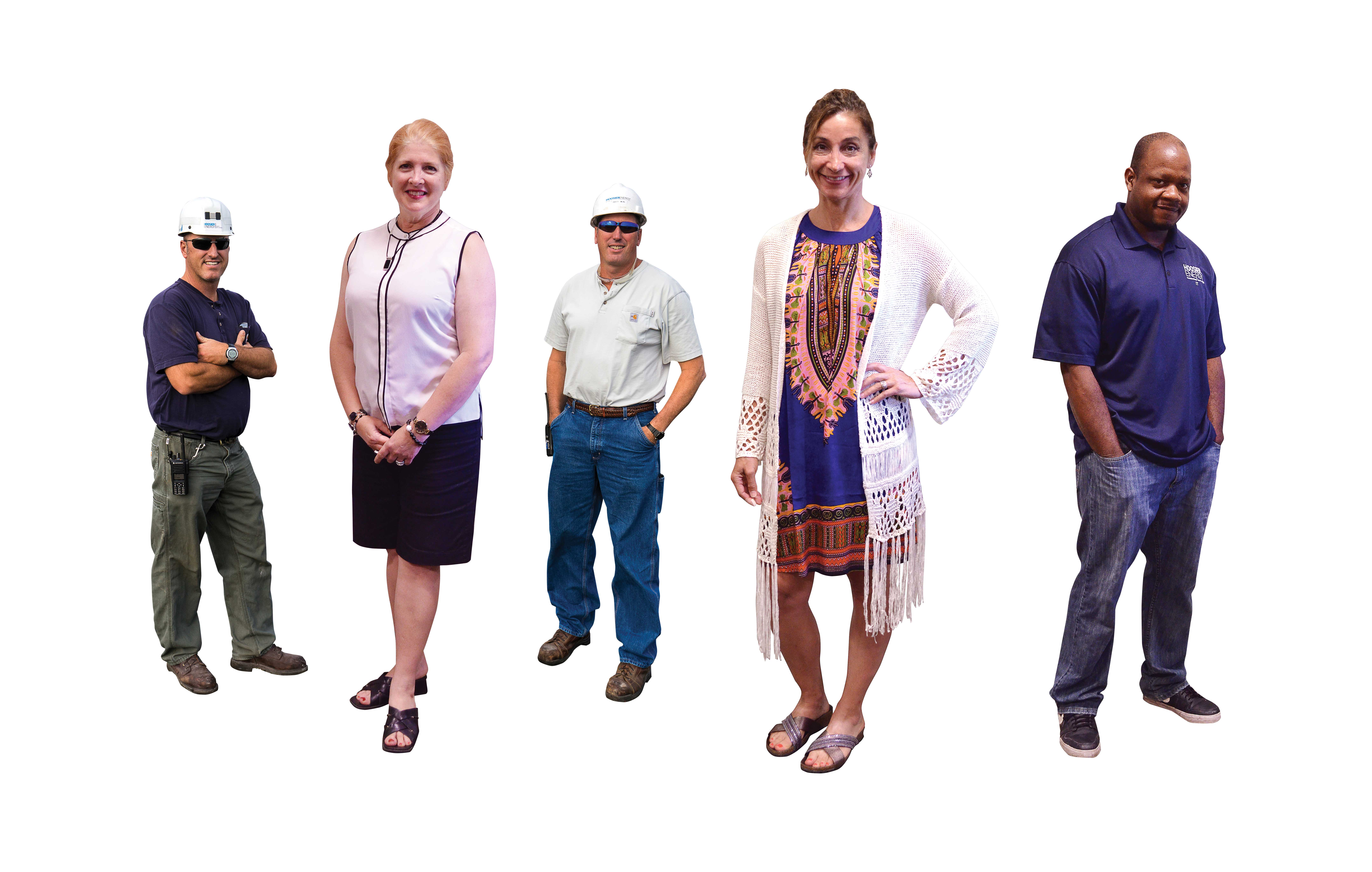 Photo of several people in different jobs