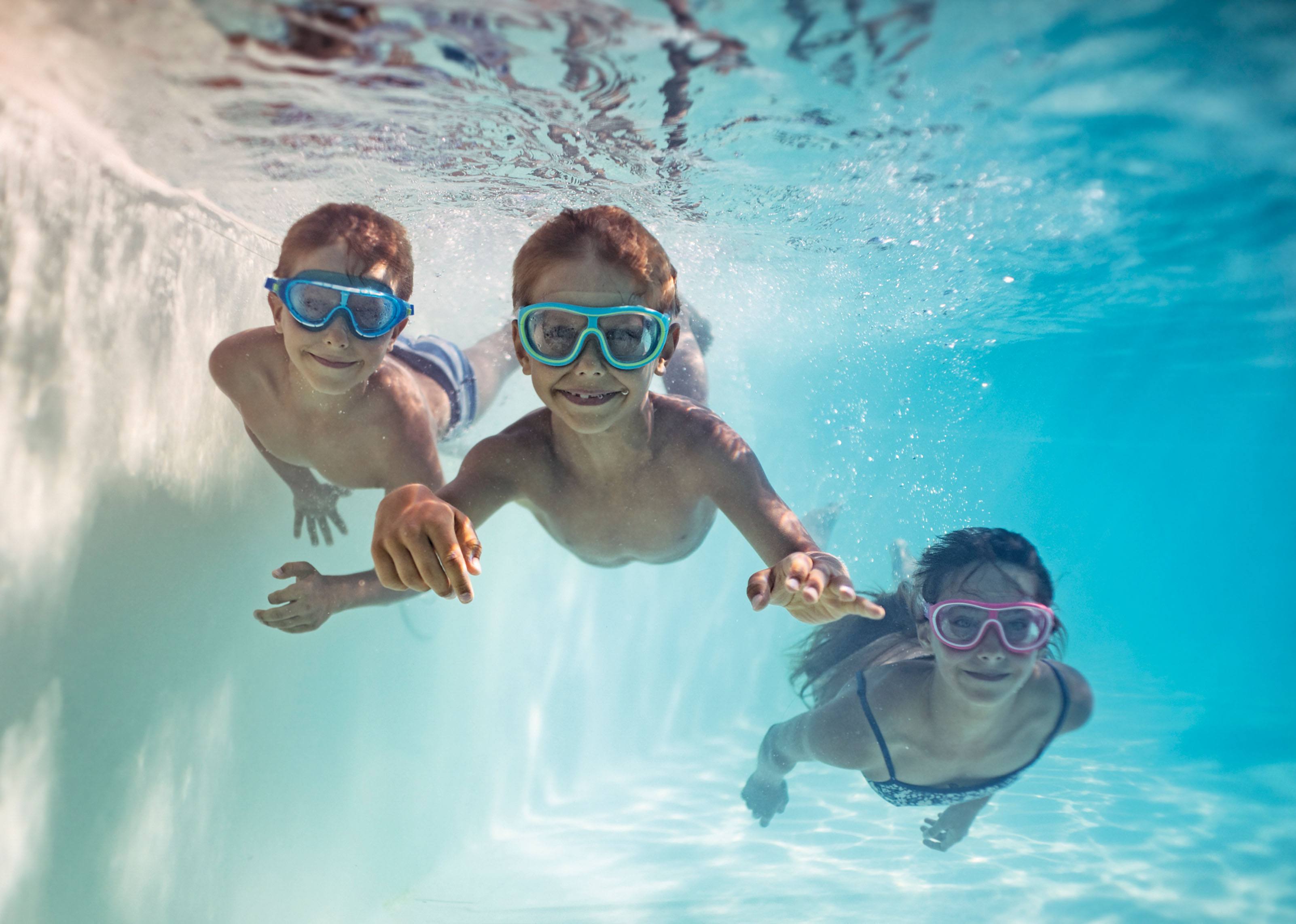 Photo of kids in a pool