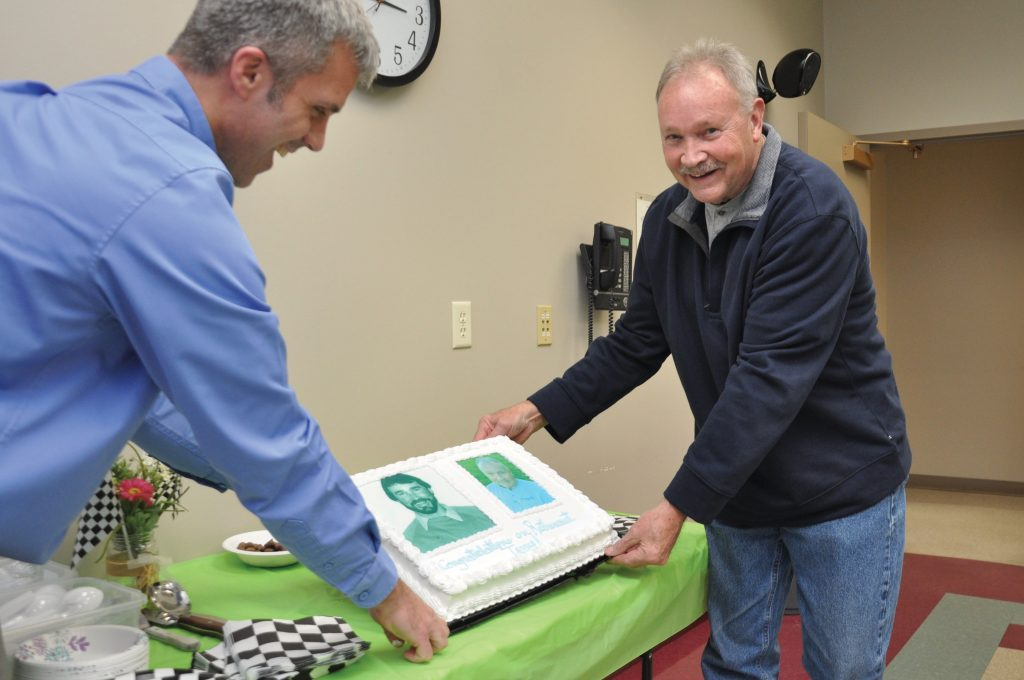Photo of Terry Helmer at his retirement