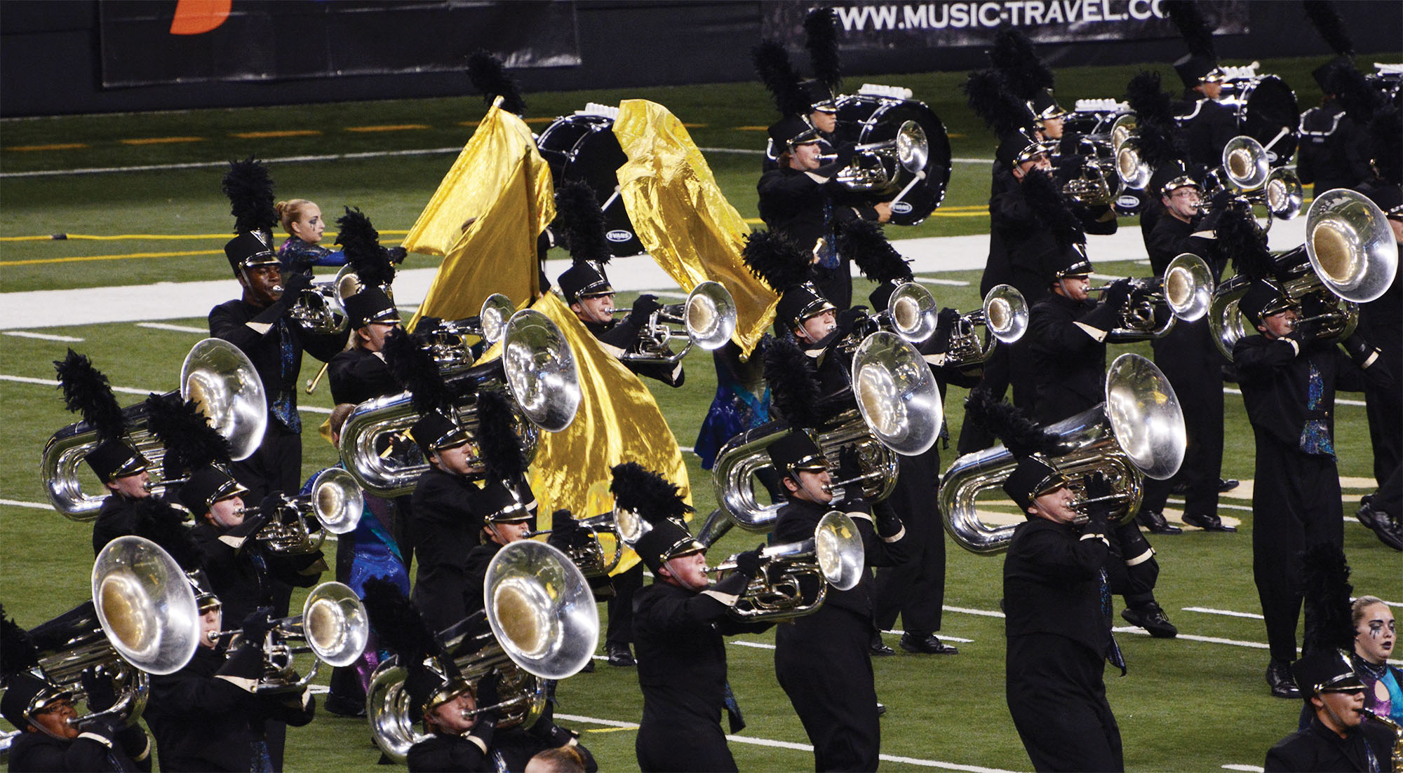 Photo of Avon marching band