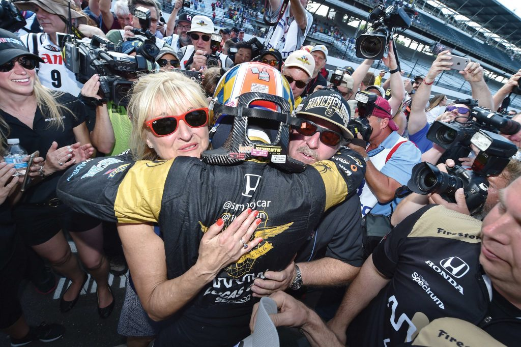 James Hinchcliffe with parents