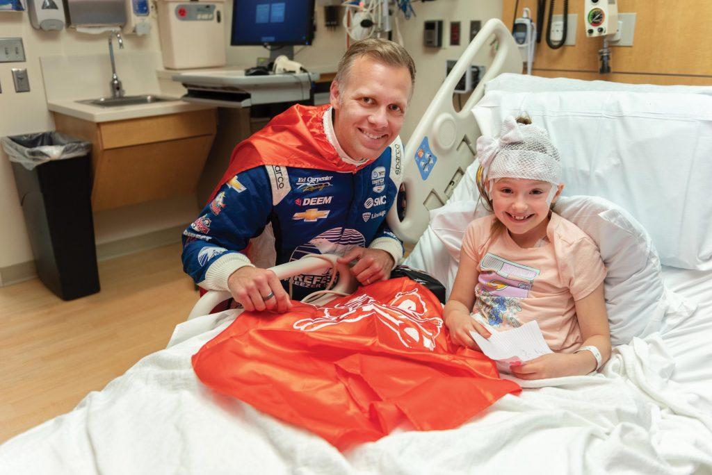 Ed Carpenter at Riley Hospital