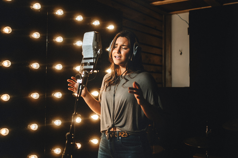 Photo of Abby Bannon in the studio.