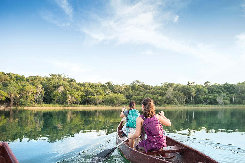 Photo of people canoeing