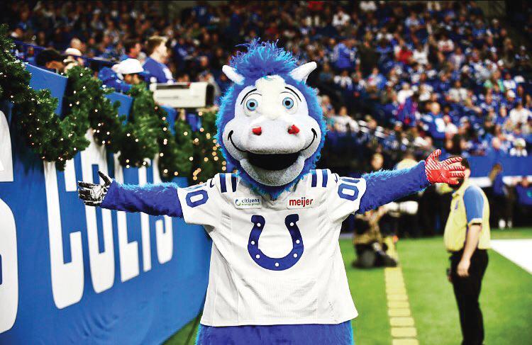 Colts mascot, Blue