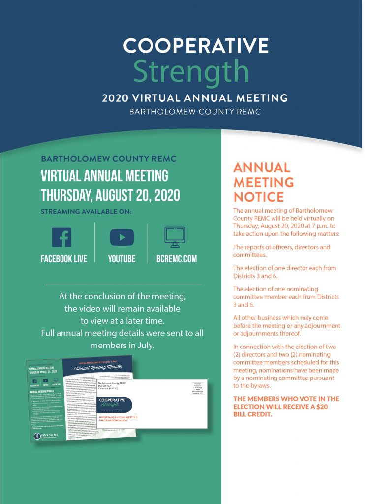 Annual meeting ad for BCREMC