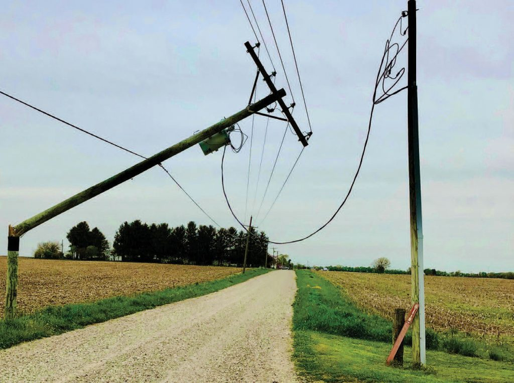 Photo of broken pole