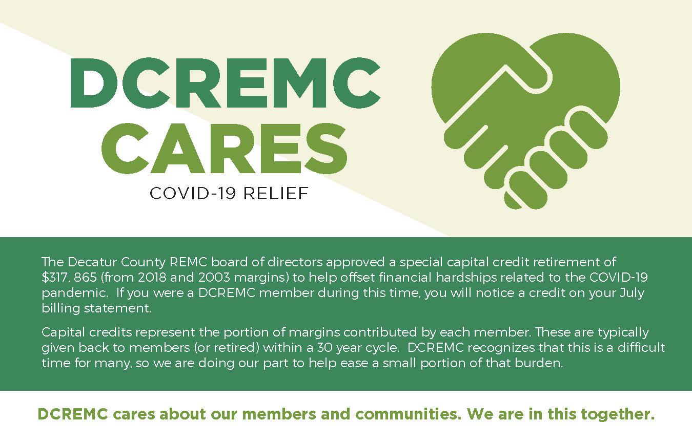 DCREMC CARES graphic