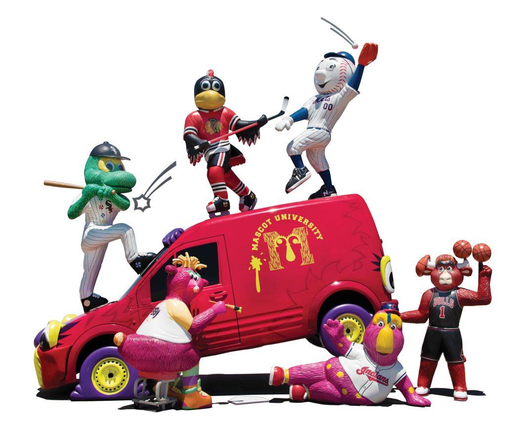 Photo of several mascots