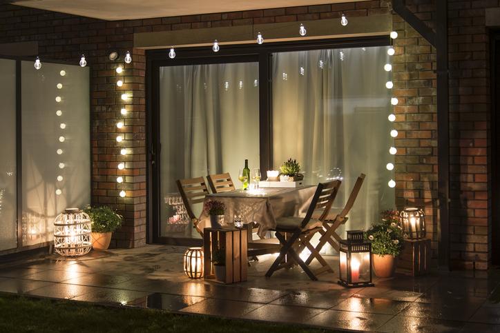 Lighted patio