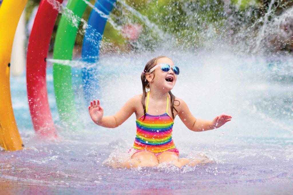 Girl at splash park