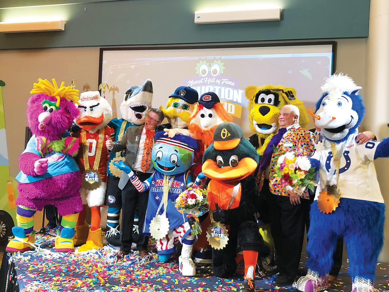 Various mascots