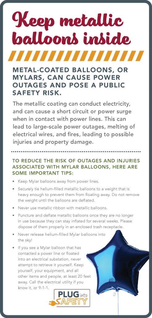 Metallic Balloon Safety graphic