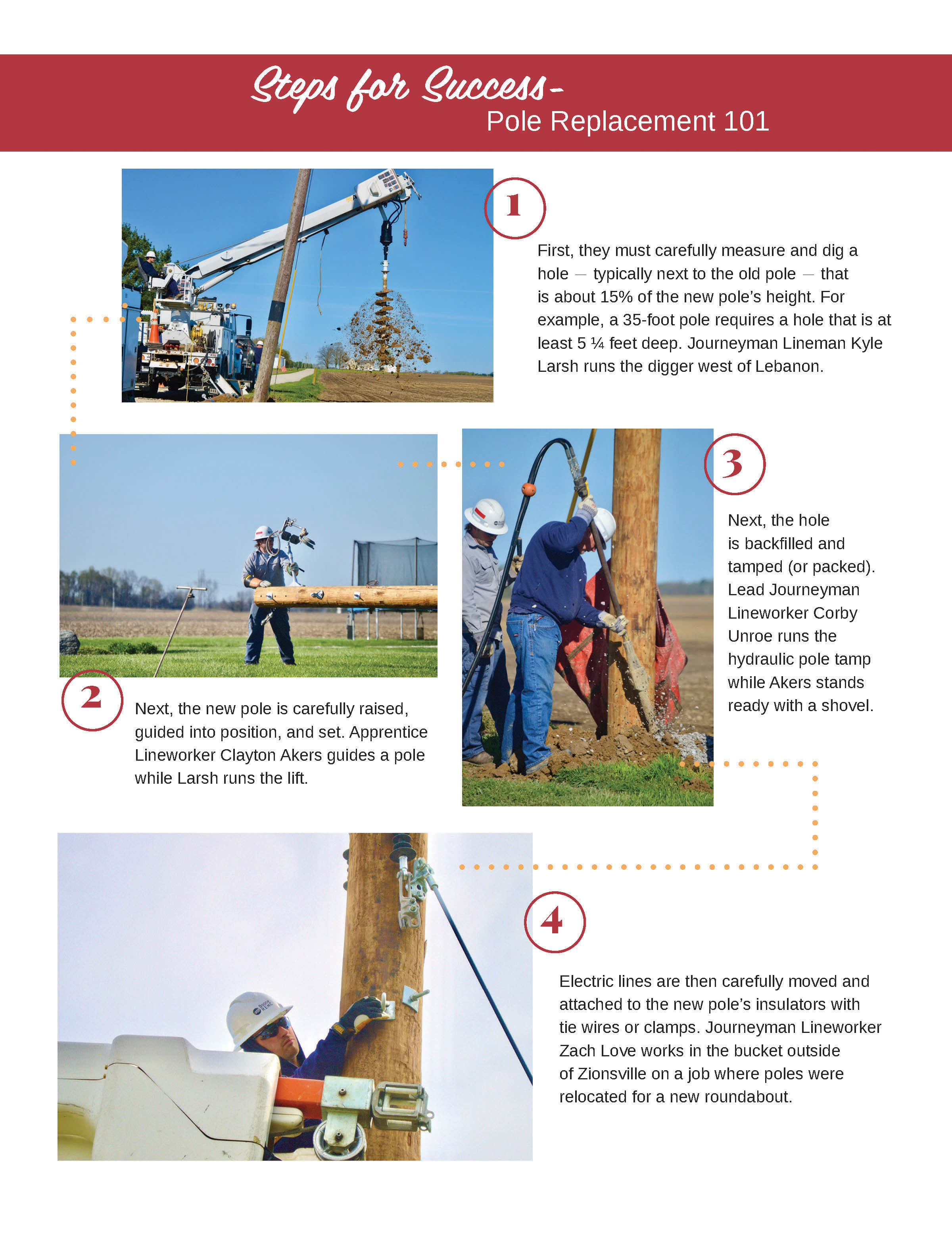 Infographic for pole replacement.