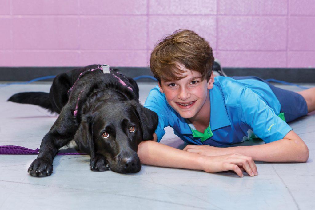 Collin with dog Maj