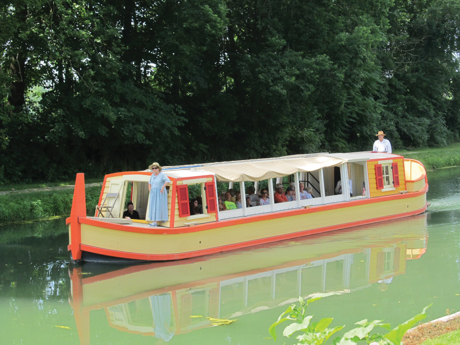 Photo of a canal boat
