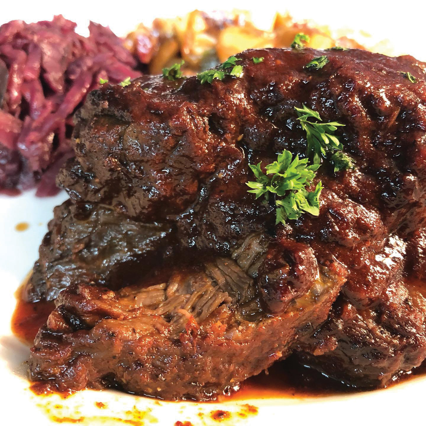 Sauerbraten with Braised Red Cabbage