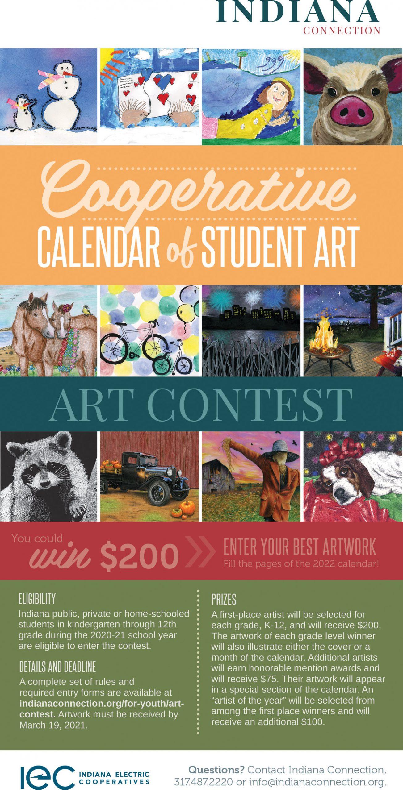 Cooperative Calendar of Student Art Contest ad