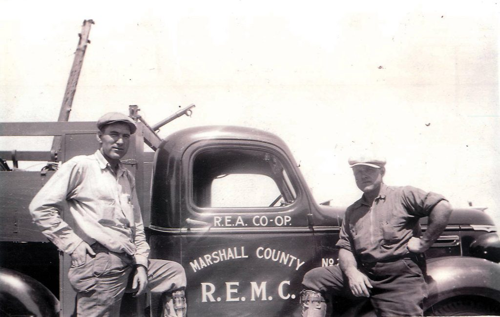 Early workers for Marshall County REMC
