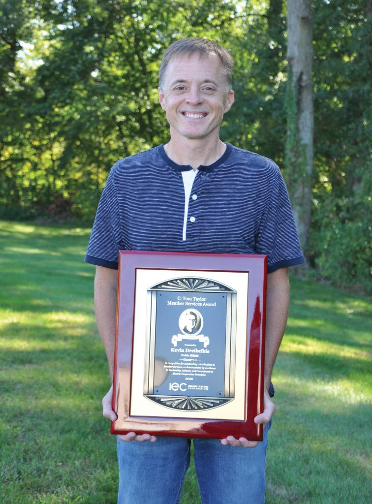 Kevin Dreibelbis with Tom Taylor Award