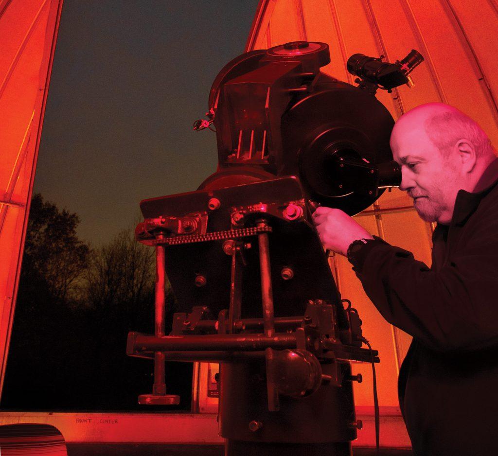 Keith Eberhardt with telescope