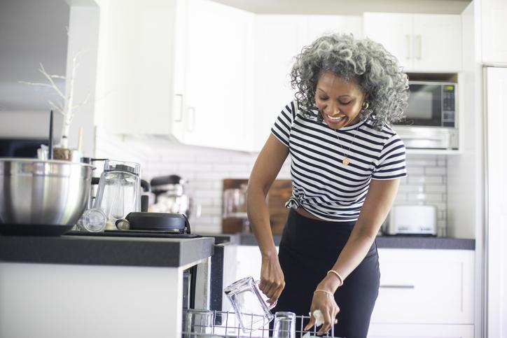 Lady at dishwasher