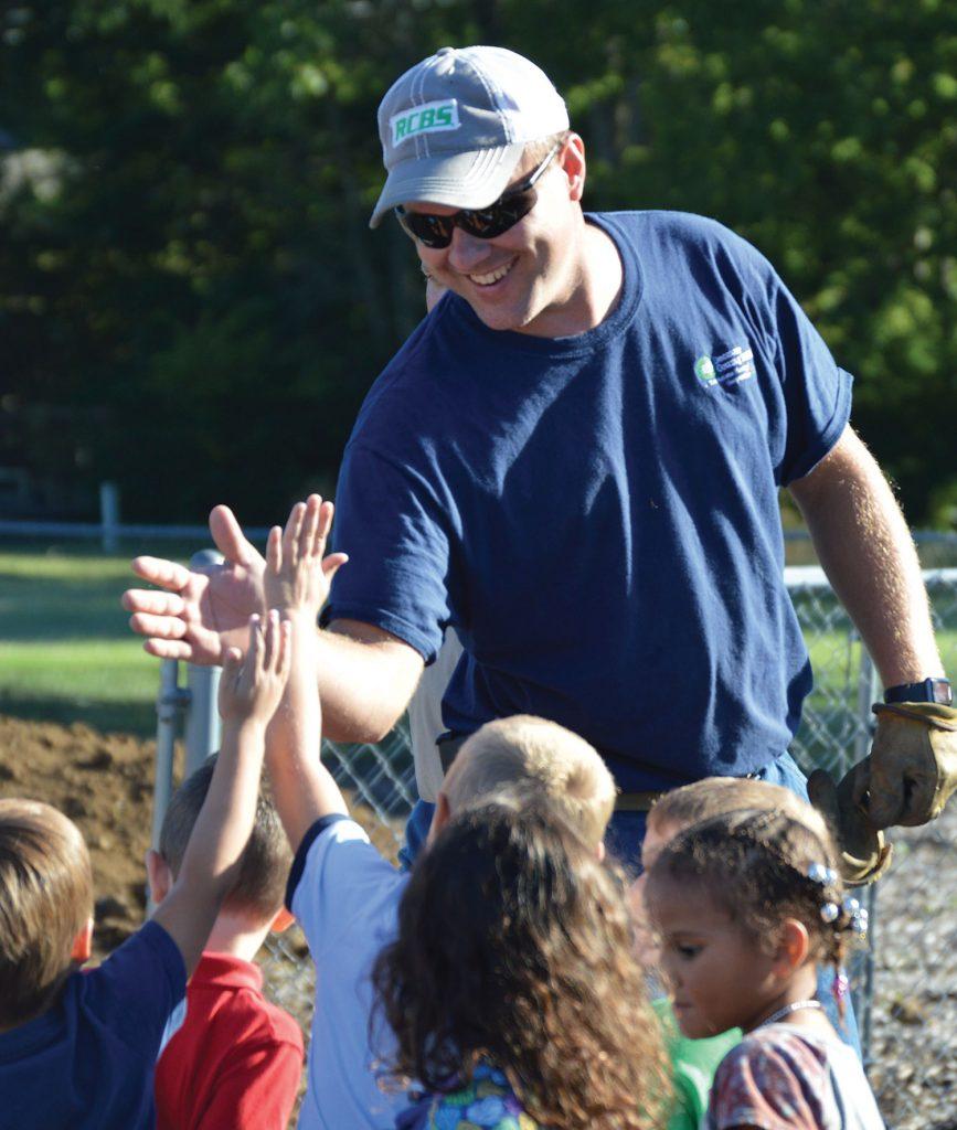 Brian AmRhein with children