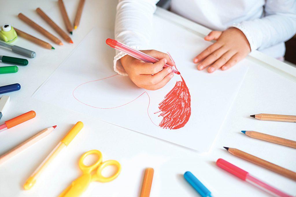 Child drawing art