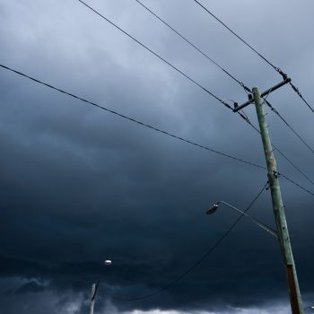Power lines during a storm