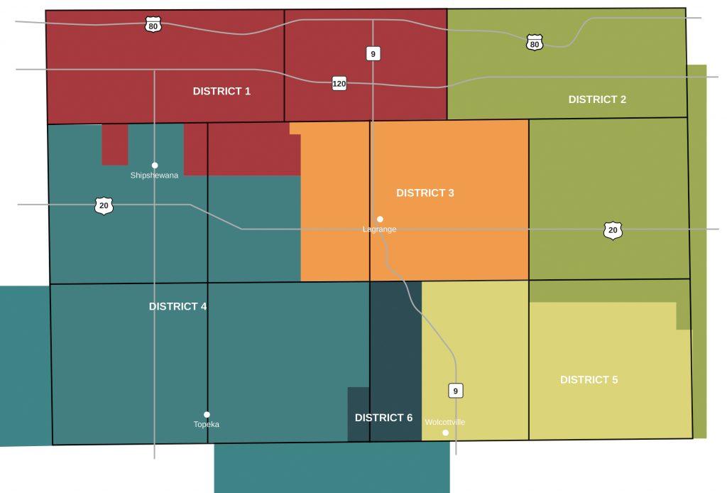 LG REMC district map