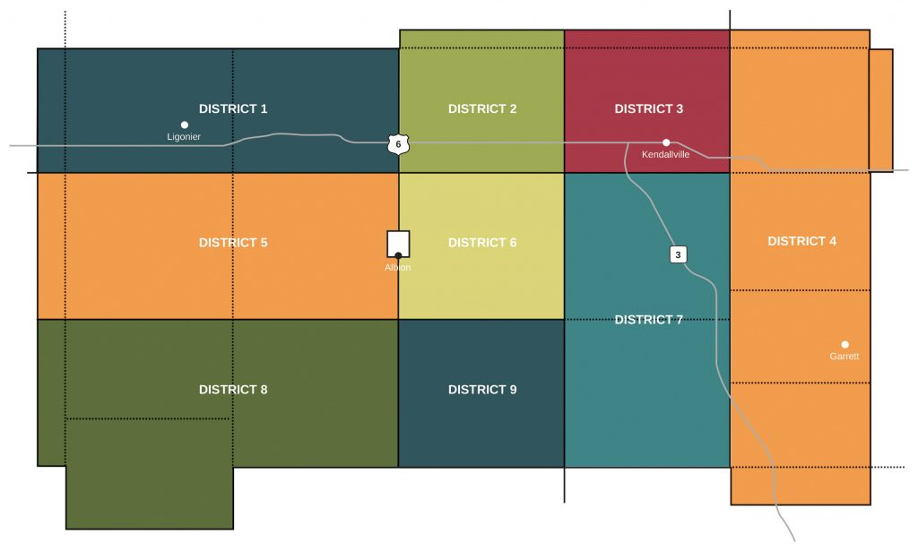 Noble REMC territory map