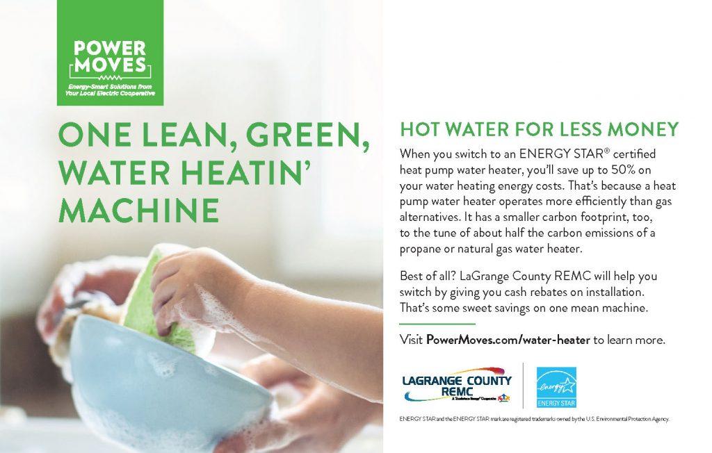 Heat pump water heater ad
