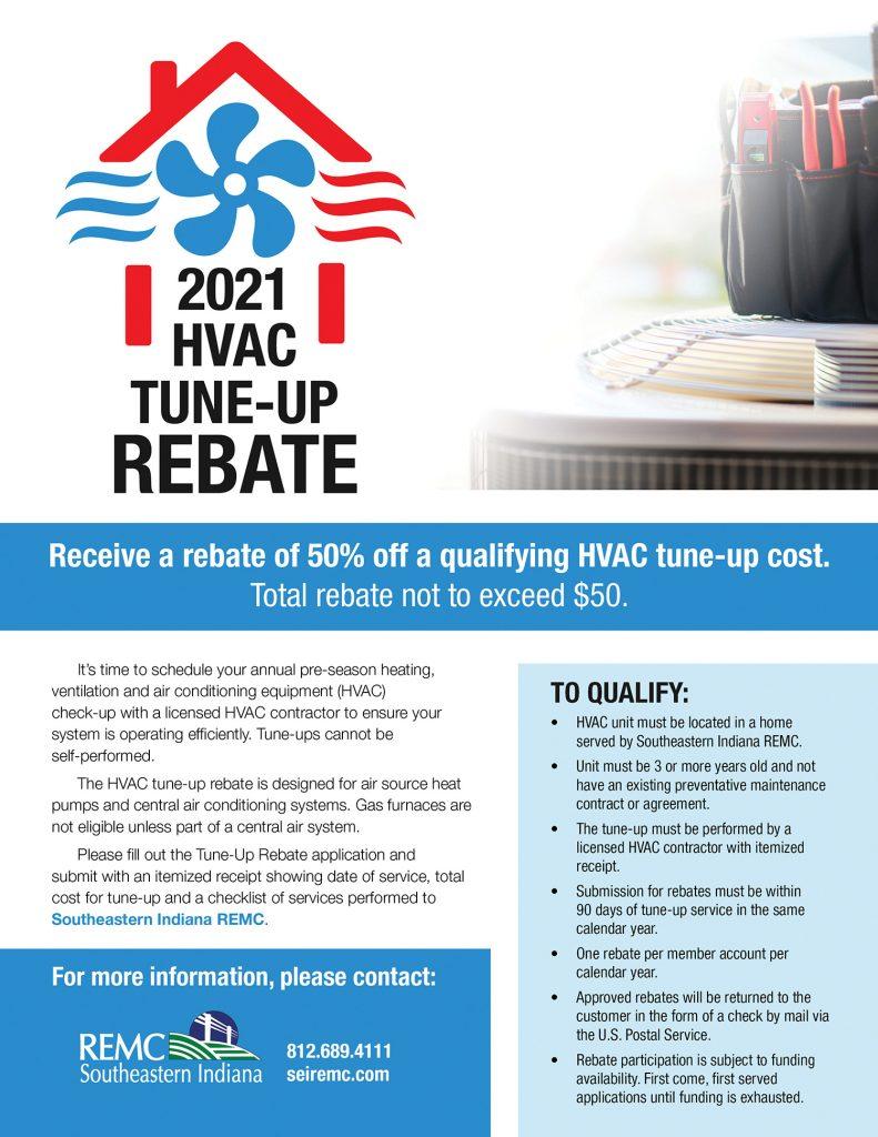 HVAC Tune Up Rebate ad