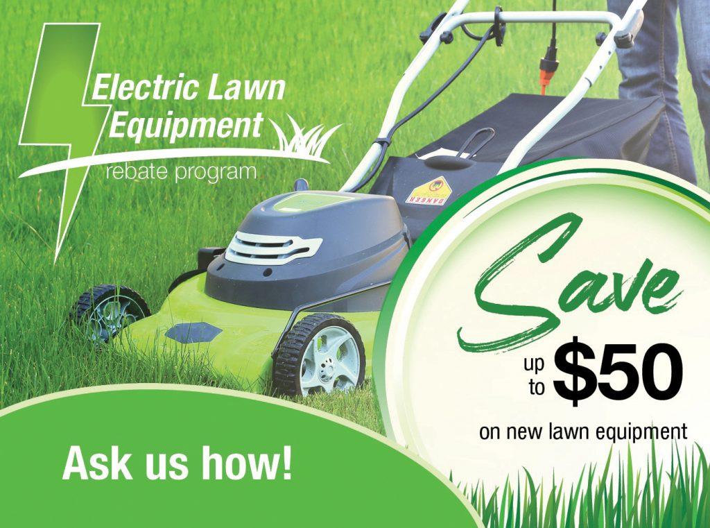 Electric Lawn Equipment Rebate ad